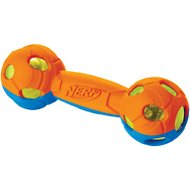 Nerf Dog Light Up Bash Barbell Dog Toy, Medium