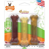 Nylabone FlexiChew Triple Pack Dog Bone Toys, Petite