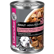Eukanuba Adult Mixed Grill Chicken & Beef Dinner in Gravy Formula Canned Dog Food, 12.5-oz, case of 12