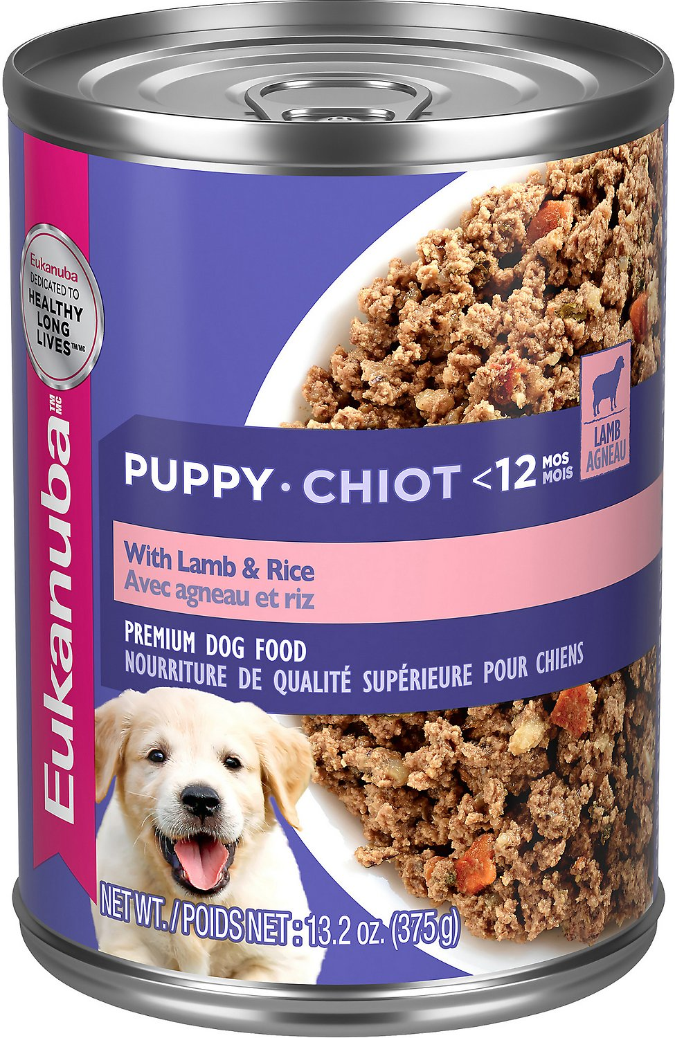 Eukanuba Puppy Food >> Eukanuba Puppy Lamb & Rice Formula Canned Dog Food, 13.2-oz, case of 12 - Chewy.com