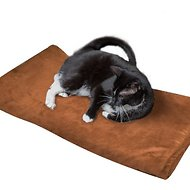 Easyology Thermal Warming Dog & Cat Bed, Brown Suede, X-Large