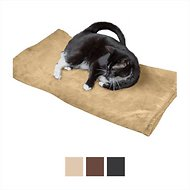 Easyology Thermal Warming Dog & Cat Bed, X-Large, Beige Suede