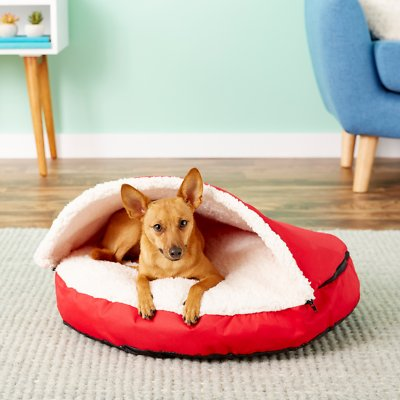 Sensational Happycare Textiles Round Dog Cat Cave Bed Red Squirreltailoven Fun Painted Chair Ideas Images Squirreltailovenorg