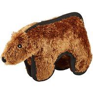 Hyper Pet Tough Plush Brown Bear Dog Toy