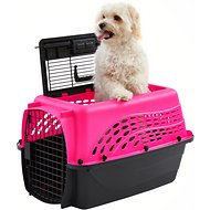 Frisco Two Door Top Load Plastic Kennel, Pink, 24-in