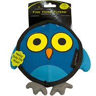 Hyper Pet Firehose Flyers Owl Dog Toy