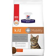 Hill's Prescription Diet K/D Kidney Care + Mobility Care with Chicken Dry Cat Food, 6.4-lb bag