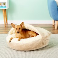 Snoozer Pet Products Microsuede Cozy Cave Dog & Cat Bed, Piston Sand, Small