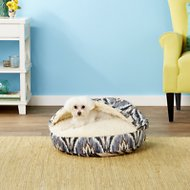 Snoozer Pet Products Microsuede Cozy Cave Dog & Cat Bed, Tempest Indigo, Small