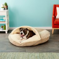 Snoozer Pet Products Microsuede Cozy Cave Dog & Cat Bed, Piston Sand, X-Large