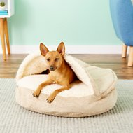 Snoozer Pet Products Orthopedic Microsuede Cozy Cave Dog & Cat Bed, Piston Sand, Small