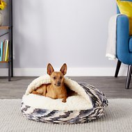Snoozer Pet Products Orthopedic Microsuede Cozy Cave Dog & Cat Bed, Tempest Indigo, Small