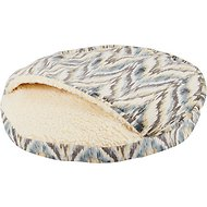 Snoozer Pet Products Orthopedic Microsuede Cozy Cave Dog & Cat Bed, Tempest Spring, Large