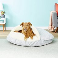 Snoozer Pet Products Orthopedic Microsuede Cozy Cave Dog & Cat Bed, Palmer Dove, X-Large
