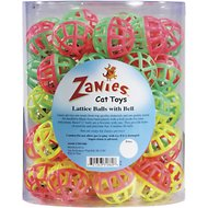Zanies Lattice Balls with Bell Cat Toy, 50-count