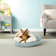 Snoozer Pet Products Luxury Microsuede Cozy Cave Dog & Cat Bed, Aqua, Small