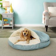 Snoozer Pet Products Luxury Microsuede Cozy Cave Dog & Cat Bed, Aqua, X-Large