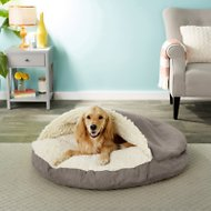 Snoozer Pet Products Luxury Microsuede Cozy Cave Dog & Cat Bed, Dark Chocolate, X-Large