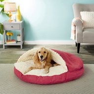 Snoozer Pet Products Luxury Microsuede Cozy Cave Dog & Cat Bed, Red, X-Large