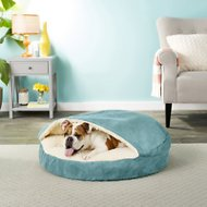 Snoozer Pet Products Orthopedic Luxury Microsuede Cozy Cave Dog & Cat Bed, Marine, Large