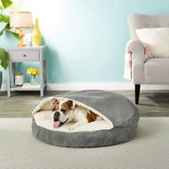 Snoozer Pet Products Orthopedic Luxury Microsuede Cozy Cave Dog & Cat Bed, Anthracite, Large