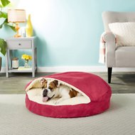 Snoozer Pet Products Orthopedic Luxury Microsuede Cozy Cave Dog & Cat Bed, Red, Large