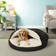 Snoozer Pet Products Orthopedic Luxury Microsuede Cozy Cave Dog & Cat Bed, Black, X-Large