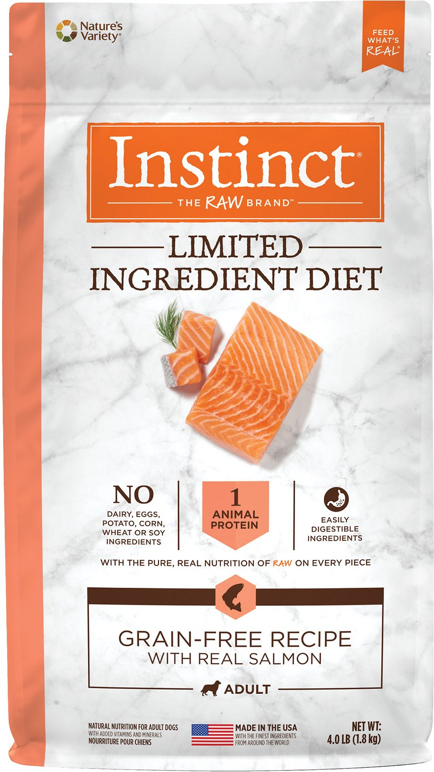 Instinct by Nature's Variety Limited Ingredient Diet Grain-Free Recipe with  Real Salmon Dry Dog Food, 4-lb bag