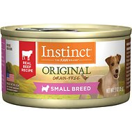 Instinct by Nature's Variety Original Small Breed Grain-Free Real Beef Recipe Natural Wet Canned Dog Food, 3-oz, case of 24