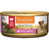 Instinct by Nature's Variety Original Small Breed Grain-Free Real Beef Recipe Natural Wet Canned Dog Food, 5.5-oz, case of 12