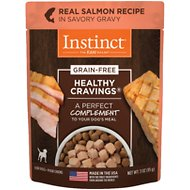 Instinct by Nature's Variety Healthy Cravings Grain-Free Real Salmon Recipe Wet Dog Food Topper, 3-oz pouch, case of 24