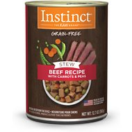 Instinct by Nature's Variety Stew Grain-Free Beef with Carrots & Peas Recipe Canned Dog Food, 12.7-oz, case of 6