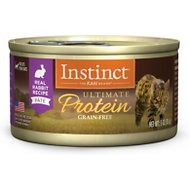Instinct by Nature's Variety Ultimate Protein Grain-Free Real Rabbit Recipe Natural Wet Canned Cat Food, 3-oz, case of 24