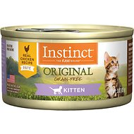 Instinct by Nature's Variety Kitten Grain-Free Real Chicken Recipe Natural Wet Canned Cat Food, 3-oz, case of 24