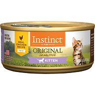 Instinct by Nature's Variety Kitten Grain-Free Real Chicken Recipe Wet Canned Cat Food, 5.5-oz, case of 12