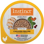 Instinct by Nature's Variety Grain-Free Minced Recipe with Real Chicken Wet Cat Food Cups, 3.5-oz, case of 12