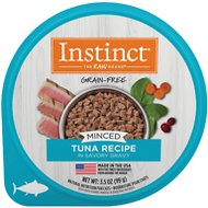 Instinct by Nature's Variety Grain-Free Minced Recipe with Real Tuna Wet Cat Food Cups, 3.5-oz, case of 12