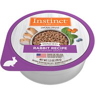 Instinct by Nature's Variety Grain-Free Minced Rabbit Recipe Wet Cat Food, 3.5-oz, case of 12