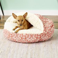Snoozer Pet Products Indoor/Outdoor Cozy Cave Dog & Cat Bed, Gondola Salmon, Small
