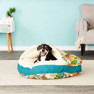 Snoozer Pet Products Indoor/Outdoor Cozy Cave Dog & Cat Bed, Lensing Jungle, X-Large