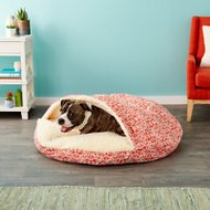 Snoozer Pet Products Indoor/Outdoor Cozy Cave Dog & Cat Bed, Gondola Salmon, X-Large