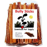 "Downtown Pet Supply 6"" Bully Sticks Dog Treats, 10 pack"