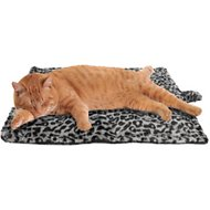 Downtown Pet Supply Thermal Leopard Print Cat Mat, Gray