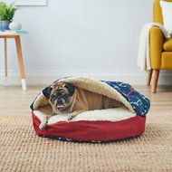 Snoozer Pet Products Orthopedic Indoor/Outdoor Cozy Cave Dog & Cat Bed, Anchors, Small