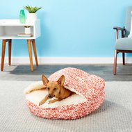 Snoozer Pet Products Orthopedic Indoor/Outdoor Cozy Cave Dog & Cat Bed, Gondola Salmon, Small