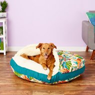 Snoozer Pet Products Orthopedic Indoor/Outdoor Cozy Cave Dog & Cat Bed, Lensing Jungle, X-Large