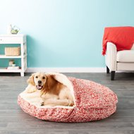 Snoozer Pet Products Orthopedic Indoor/Outdoor Cozy Cave Dog & Cat Bed, Gondola Salmon, X-Large