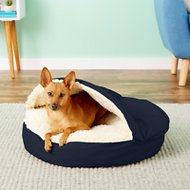 Snoozer Pet Products Cozy Cave Dog & Cat Bed, Navy, Small