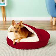 Snoozer Pet Products Cozy Cave Dog & Cat Bed, Red, Small