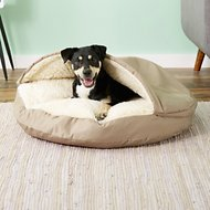 Snoozer Pet Products Cozy Cave Dog & Cat Bed, Khaki, Large